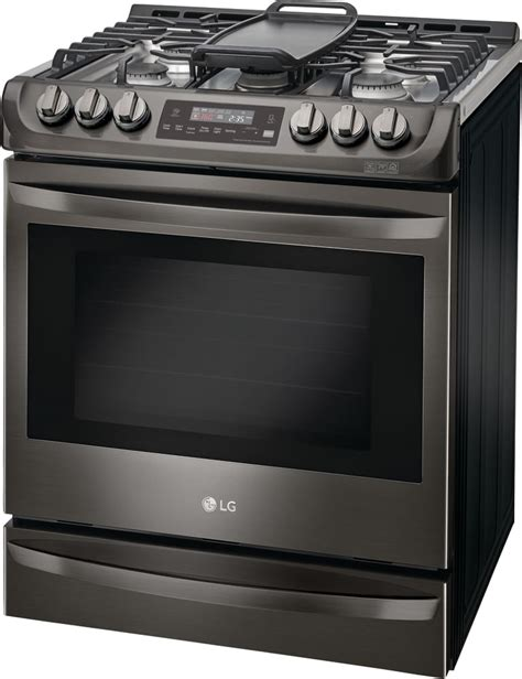slide in gas range reviews lg lsg4513bd 30 inch slide in gas range with convection