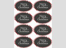 Christmas & Holiday assorted circle and oval labels