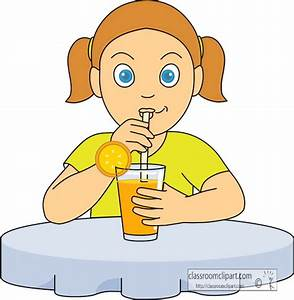 Drink and Beverage Clipart Clipart- girl_drinking_orange ...