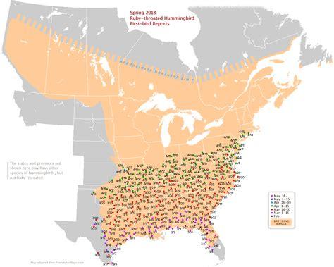 2017 hummingbird migration map michigan sportsman