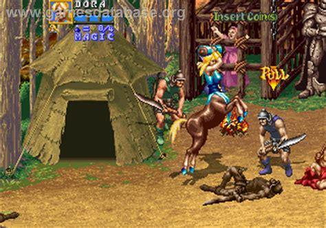 Golden Axe The Revenge Of Death Adder Arcade Games