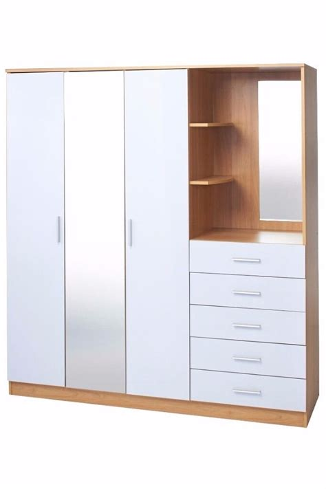 Wardrobe With Drawers And Mirror by Brand New 3 Door Wardrobe With Mirror Combi Unit Drawers