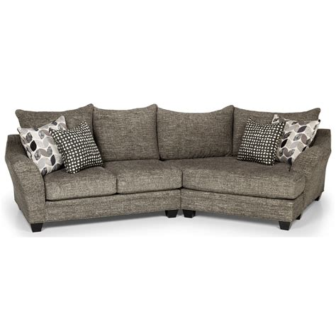 Cuddler Loveseat by Cuddler Sofa Furniture Carena 3 Pc Fabric Sectional With