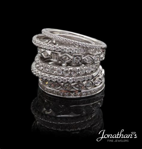 Jonathan's Fine Jewelers  Diamond Trends  Stackable. Top Wedding Rings. Acrylic Wedding Rings. Message Wedding Rings. Simplistic Wedding Rings. 1ct Engagement Rings. Pin Cushion Engagement Rings. Perfect Rings. Non Traditional Mens Wedding Wedding Rings