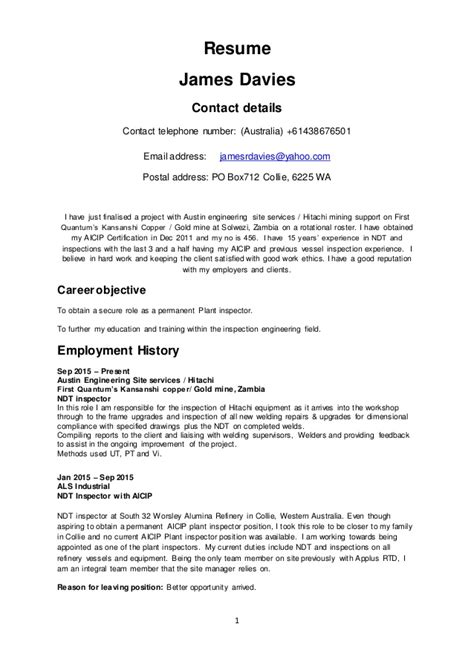 Yahoo Email Address On Resume by Davies Resume