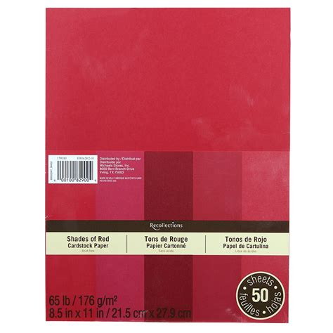 recollections shades  red cardstock paper