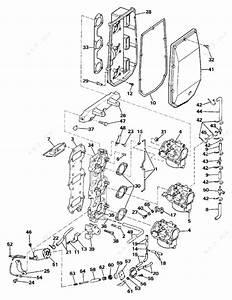 Johnson 1984 70 - J70elcrd  Intake Manifold
