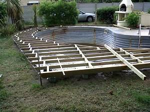 terrasse bois piscine hors sol simple pente piscine hors With pente terrasse bois composite