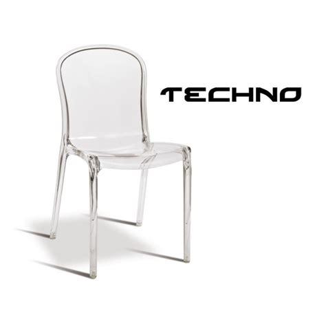 chaise transparente plastique techno structure polycarbonate