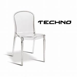 Chaise Plastique Transparente : chaise transparente plastique techno structure polycarbonate ~ Melissatoandfro.com Idées de Décoration