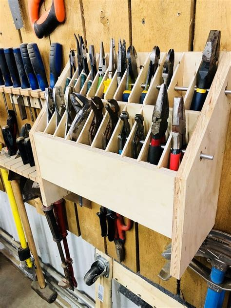 pliers organizer thingy diy garage storage garage tool