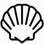 Seashell Icon Icons Seafood Open Getdrawings Animals