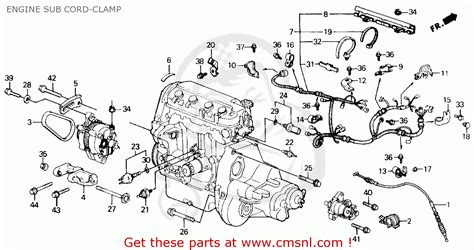 1989 Honda Accord Engine Diagram by Honda Civic 1990 L 4dr Ex Ka Kl Engine Sub Cord Cl
