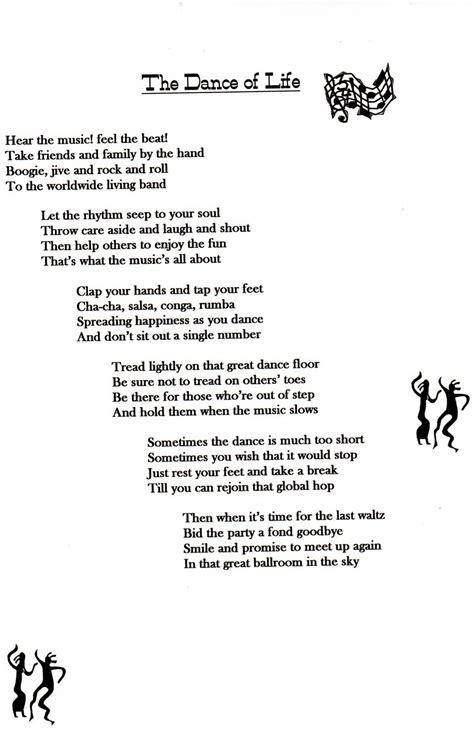 dancing poems quotes quotesgram