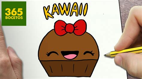 COMO DIBUJAR CUPCAKE KAWAII PASO A PASO Dibujos kawaii