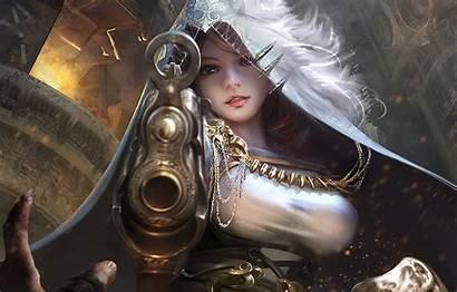 Fantasy Warrior Gunslinger Digital Gun Wallpapers Hood