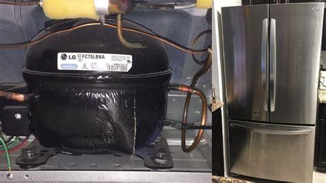 refrigerator not cooling working lg 3 door bottom freezer fridge loud compressor noise