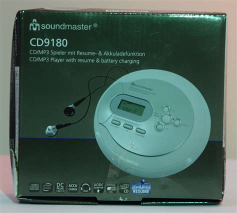 Cd Player Resume Play by Soundmaster Cd9180 Cd Mp3 Player With Esp Battery Charger And Resume Function Ebay