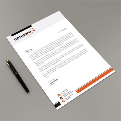 energy letterhead design required