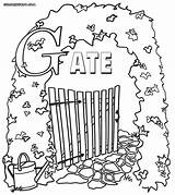 Gate Heaven Gates Coloring Drawing Pages Colorings Getdrawings sketch template