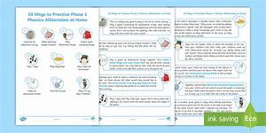 10 Ways To Practise Phase 1 Phonics Alliteration At Home