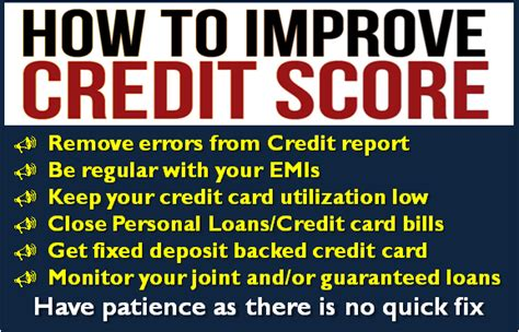 9 Ways To Improve Cibil Credit Score