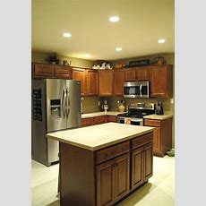 Recessed Lighting In Kitchen, Living Room, Hallways, And
