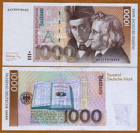 germany federal republic 1000 1991 p 44 44a unc