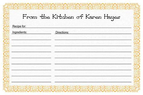 recipe card templates