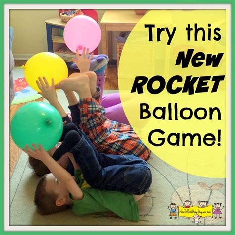 Try This New Rocket Balloon Game  #momlife  Pinterest  Balloon Games, Space Games For Kids