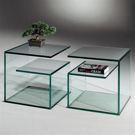 designer beistelltisch glas janus 5 kleiner glas beistelltisch dreieck design