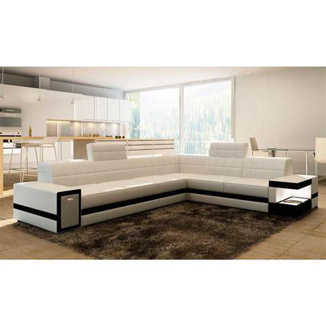 grand canapé d 39 angle en cuir brest pop design fr