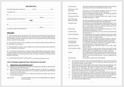 Partnership Agreement Word Template Deed Templates Key