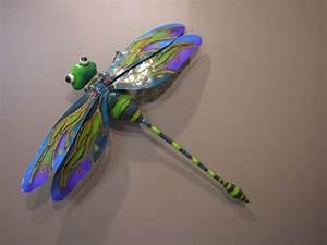 Decoration Murale Acier : libellule acier color d coration murale 67cm ~ Teatrodelosmanantiales.com Idées de Décoration