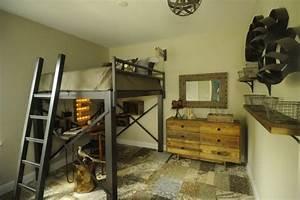 Lit Mezzanine Double : lit mezzanine adulte pour l 39 am nagement du petit appartement ~ Premium-room.com Idées de Décoration