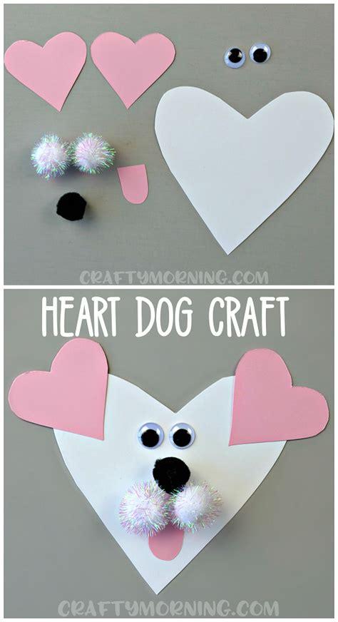 shaped craft crafty morning 630 | heart shaped dog craft valentine