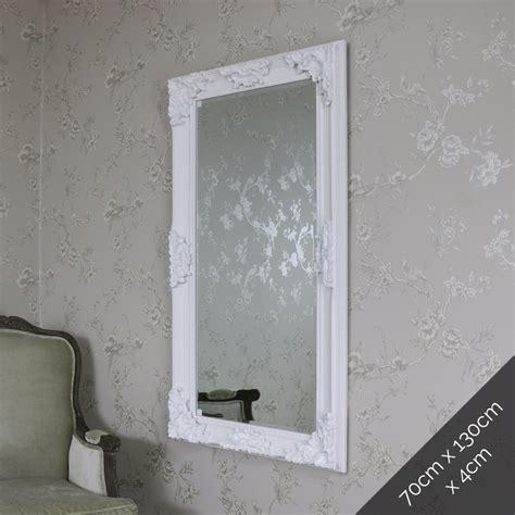 shabby chic floor mirror large ornate matt white wall floor mirror shabby vintage chic bedroom french ebay