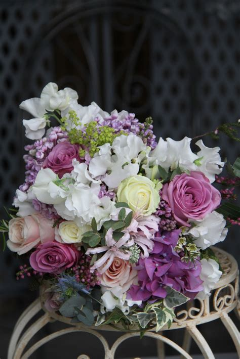 flower magician victorian lilac wedding bouquet