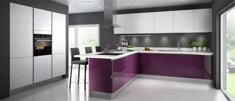 cuisine blanc et violet cuisine couleur aubergine inspirations violettes en 71 idées