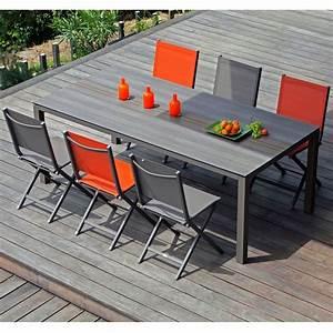 Table De Jardin En Aluminium : table de jardin gall o aluminium hpl l210 l100 cm caf 213 x 103 x 10 cm gamm vert ~ Teatrodelosmanantiales.com Idées de Décoration