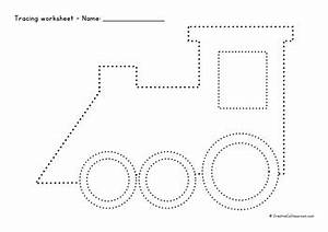 Tracing worksheets - pack of 91 pages - lines, shapes ...  Tracing