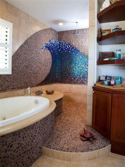 Ocean Themed Bathroom Would Love A Little More Outdoor