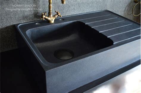 evier noir cuisine évier cuisine granit noir shadow plus