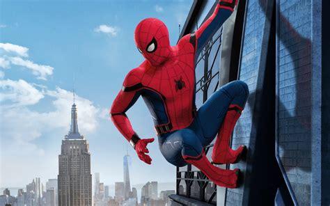 wallpaper spider man homecoming hd  movies