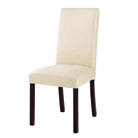 housse canape cuir chaise en croûte de cuir et bois ivoire harvard maisons