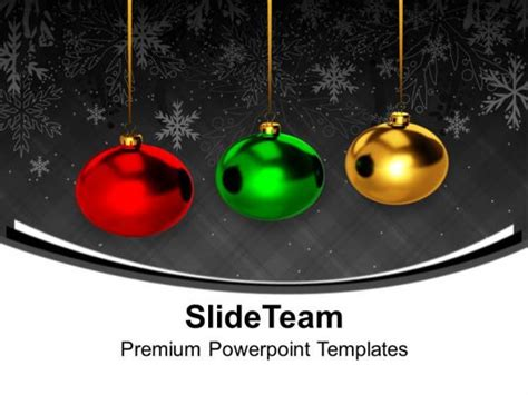 christmas ornament colourful balls hanging powerpoint