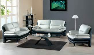 Black Leather Couch Living Room Ideas by Awesome Modern Leather Sofa Set Black Grey