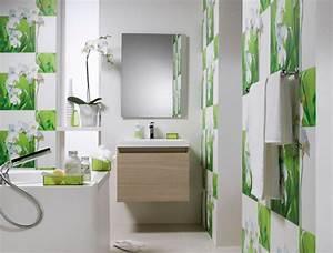 Papier Peint Salle De Bain : papiers peints cr atifs pour une salle de bain design ~ Dailycaller-alerts.com Idées de Décoration