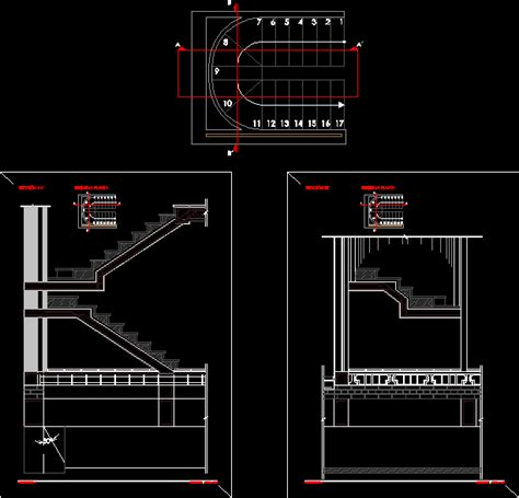 l stair details dwg section for autocad designs cad