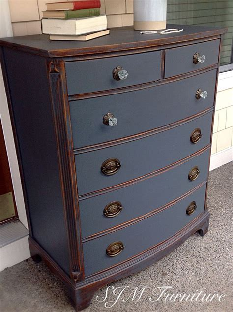 painting painted furniture beautiful antique dresser painted in steel gray chalk paint distressed and sealed with clear